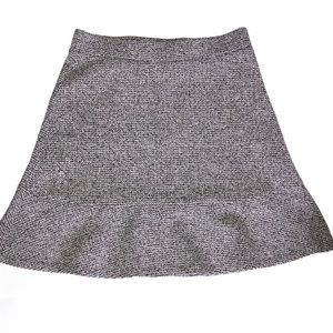 Ann Taylor Fit & Flare Tweed Skirt Size XS